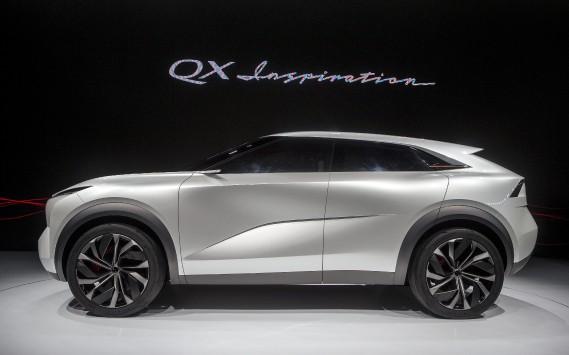 Le QX Inspiration est un précurseur des prochains véhicules électriques qu'Infinti s'apprête à lancer. (AP)