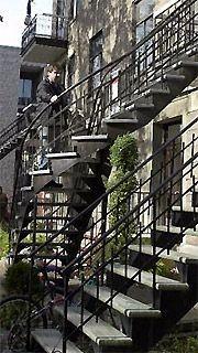 escalier exterieur fer forge montreal