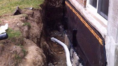 Installation d'un drain français...