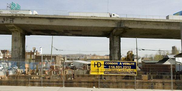 Malgré la proximité de l'autoroute surélevée, 65 %... (Photo Rémi Lemée, La Presse)
