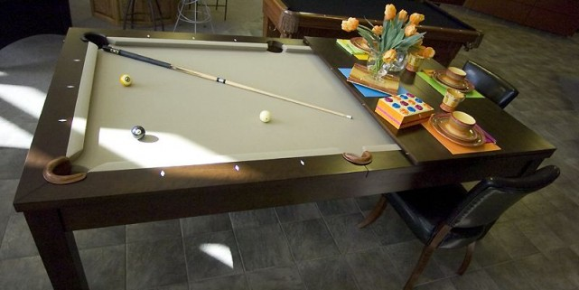 une table de billard pour petits espaces isabelle audet design. Black Bedroom Furniture Sets. Home Design Ideas