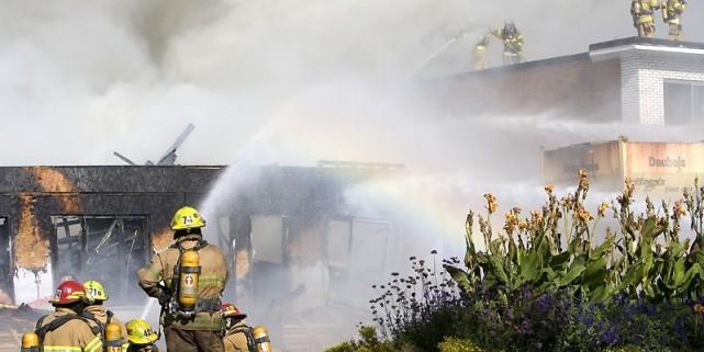 Les cinq première minutes sont déterminantes lorsqu'un incendie... (Photo David Boily, La Presse)