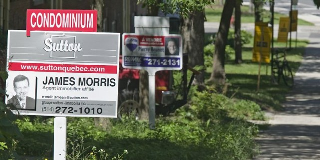 Le marché de la revente résidentielle dans la grande région de Montréal a... (Photo archives La Presse)