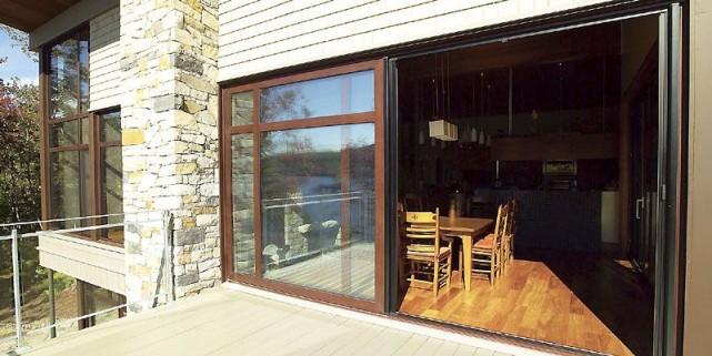 Les portes-fenêtres coulissantes à deux volets en aluminium... (Photo fournie par Alumilex)