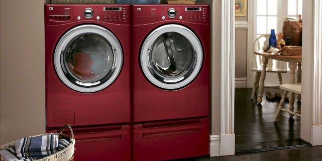De couleur pomme glacée, la laveuse à la... (Photo fournie par LG Electronics Canada)