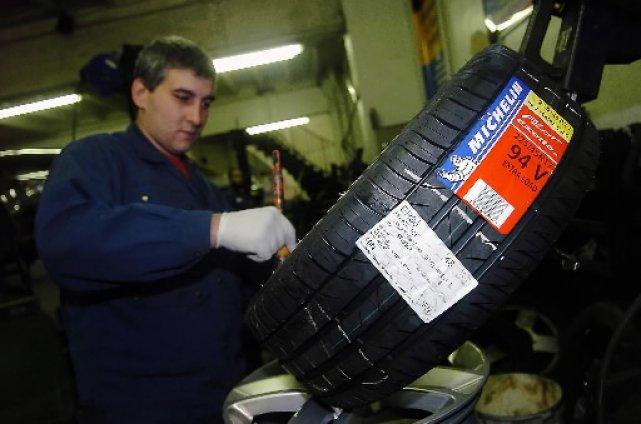 Michelin a présenté les pneus «verts» comme un... (Photo Bloomberg)