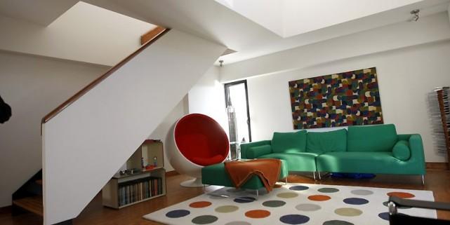 Les rampes et les garde-corps de l'appartement de... (Photo Martin Chamberland, La Presse)