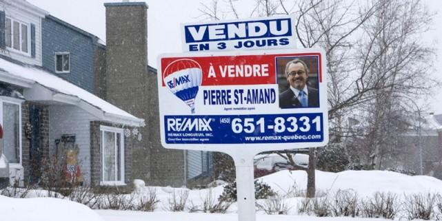 Dans la région de Québec, il faut près de deux mois pour vendre une propriété... (Photo Martin Tremblay, archives La Presse)