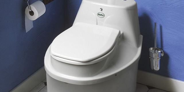 Des toilettes à compost de la compagnie Mulltoa.... (Photo fournie par COOP-La Maison verte)
