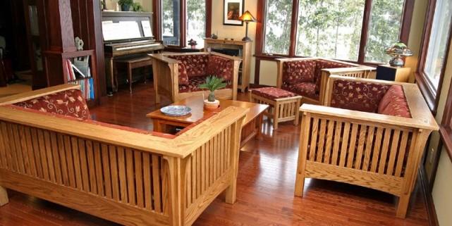 hommage au mouvement arts and crafts mich le laferri re am nagement. Black Bedroom Furniture Sets. Home Design Ideas