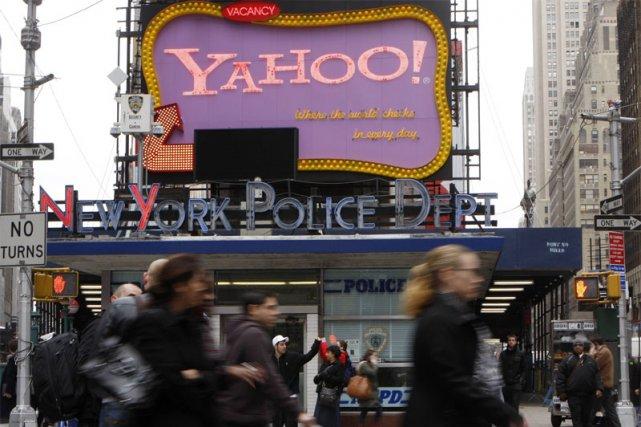 Une publicité de Yahoo! sur Time Square... (Reuters)