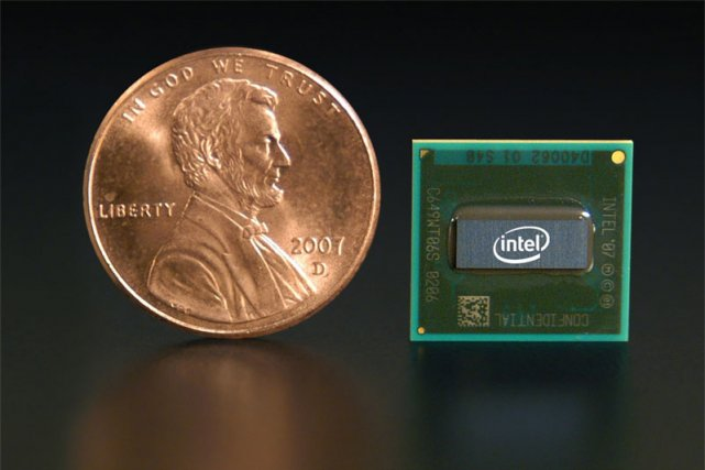Un processeur Atom d'Intel... (Reuters)