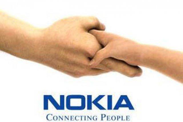 Le logo de Nokia...