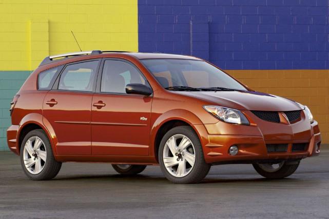 La Pontiac Vibe 2004.... (Photo fournie par GM)