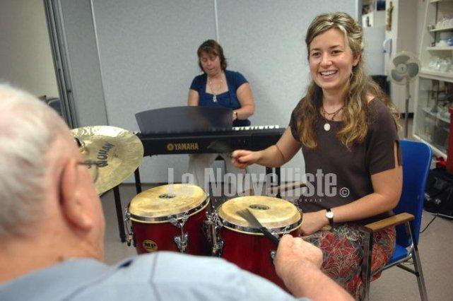 Annie Pelletier est musicothérapeute au CSSS de Trois-Rivières.... (Photo: Ève Guillemette)