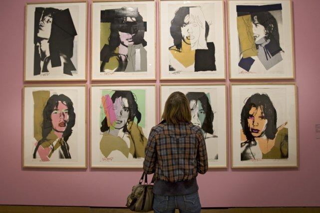 Des portraits de Mick Jagger réalisés par Andy... (Photo: Patrick Sanfaçon, La Presse)