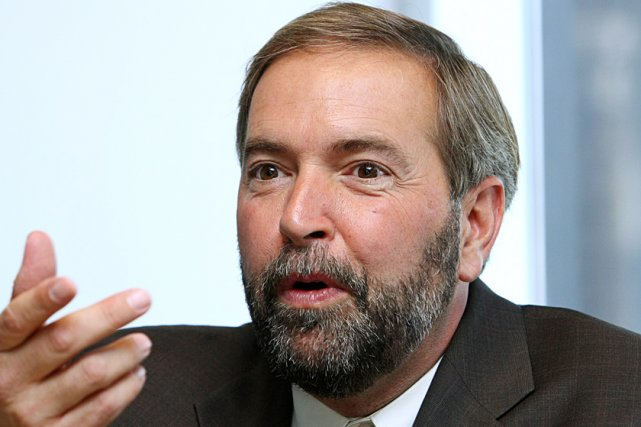 Le chef adjoint du NPD, Thomas Mulcair... (Le Soleil, Laetitia Deconinck)