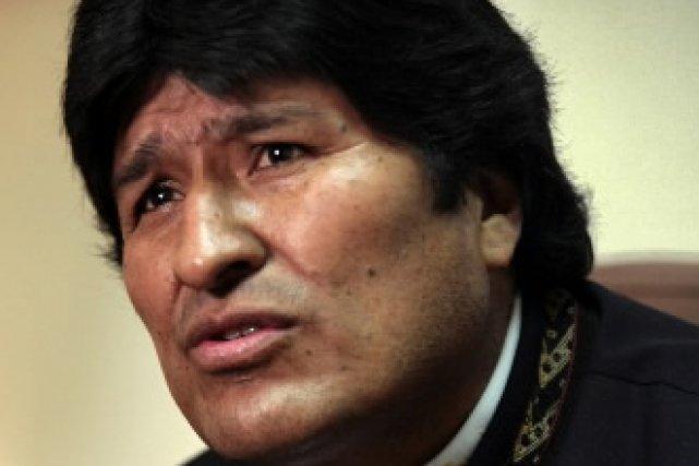 Le président bolivien Evo Morales... (Photo: AP)