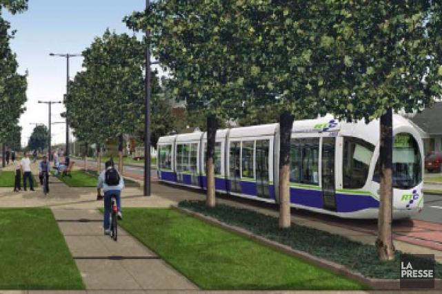 Simulation du tramway sur le boulevard Laurier à... (RTC)