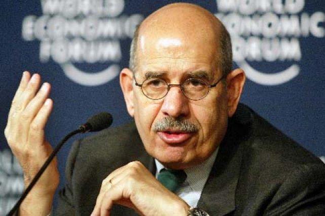 Le directeur de l'AIEA, Mohamed ElBaradei... (Photo: AP)
