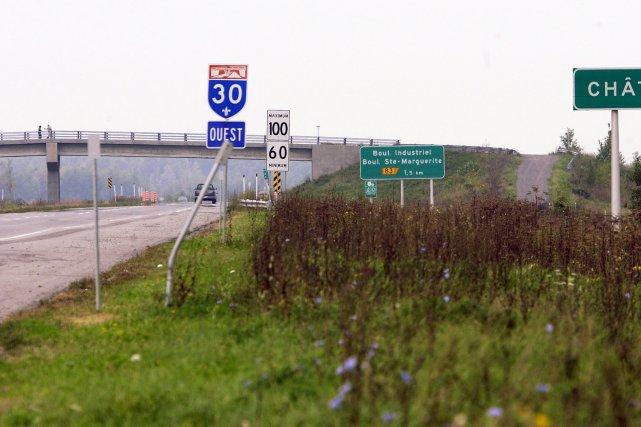 L'achèvement de l'autoroute 30 marquera le retour des péages au Québec. Le... (Archives La Presse)