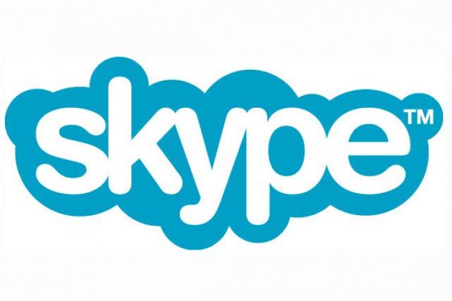 Le logo de Skype...