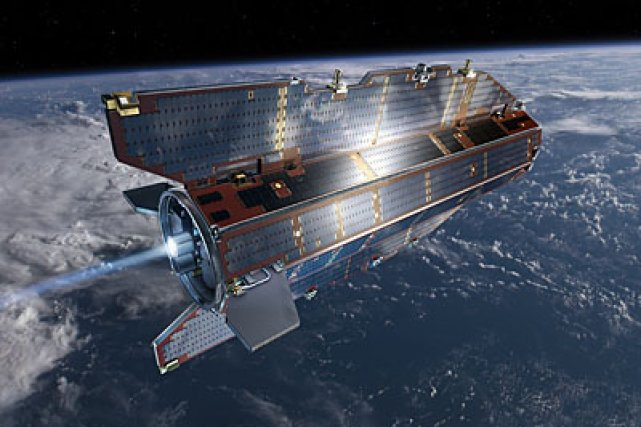 Illustration représentant le satellite d'exploration de la Terre... (Photo fournie par l'ESA)