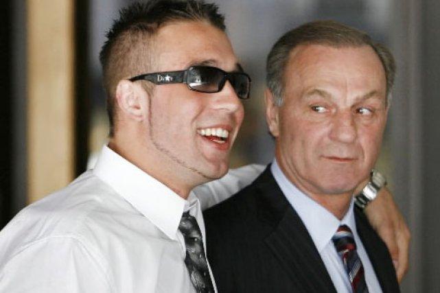 Mark Lafleur et son père, Guy.... (Photo: Robert Skinner, Archives La Presse)