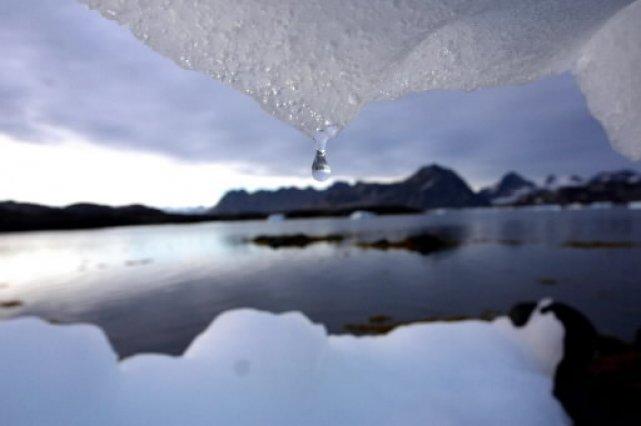 Un glacier fond... (Photo: La Presse)