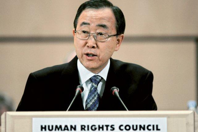 Ban Ki-moon, secrétaire général de l'ONU... (Photothèque Le Soleil)