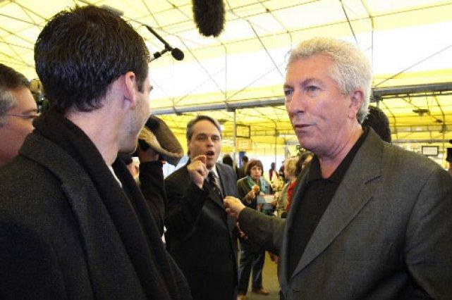 Gilles Duceppe a été pris à partie par... (Photo: Reuters)