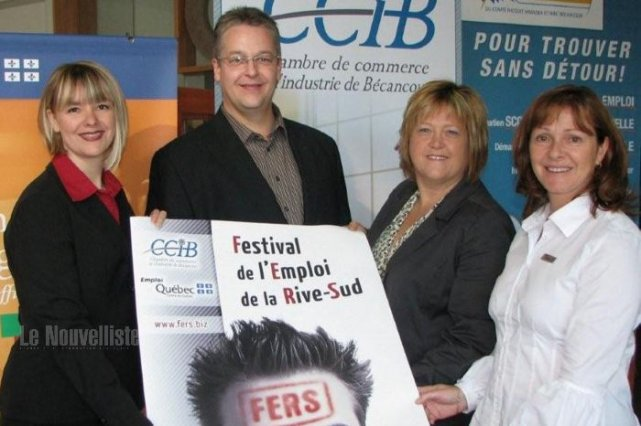 Premier festival de l 39 emploi pour la rive sud marcel for Chambre de commerce de la rive sud
