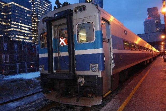 Un train de banlieue à Montréal... (Photo: Patrick Sanfacon, archives La Presse)