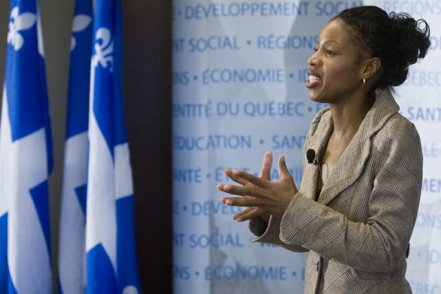 Yolande James, ministre de l'Immigration et des Communautés... (Photo: Rémi Lemée, La Presse)