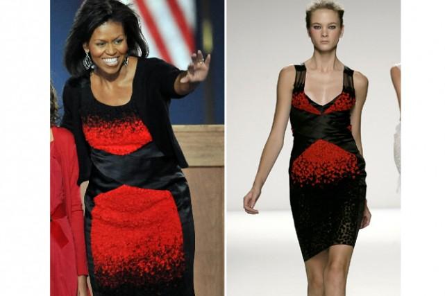 Si les Américains avaient pu se prononcer sur le choix de la robe de Michelle... (Photos: AFP et AP)