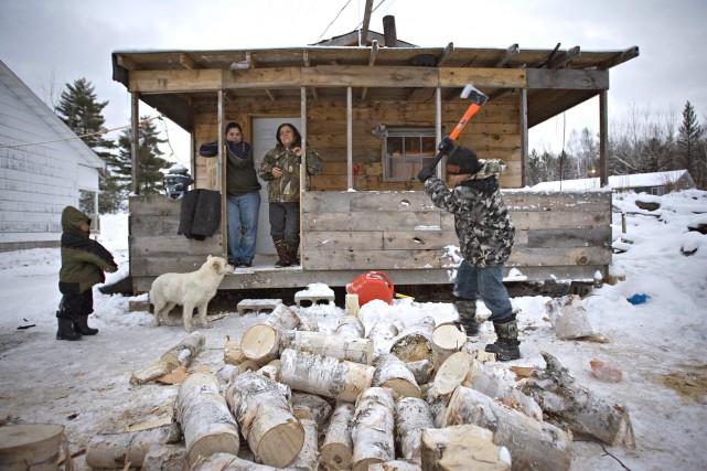 La pauvreté est partout à Lac-Barrière. Le hameau... (Photo: Patrick Sanfaçon, La Presse)