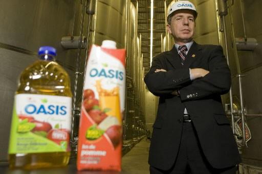 Jean Gattuso, président de A. Lassonde, dans son... (Photo: David Boily, La Presse)