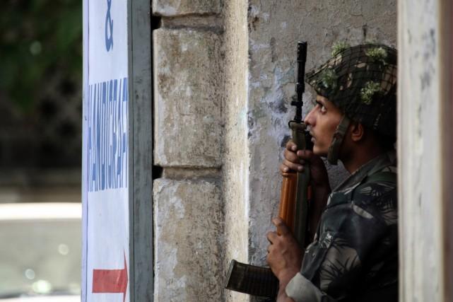 Une fausse alerte terroriste hier à l'aéroport international de New Delhi a... (Photo AFP)