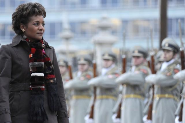Michaëlle Jean était en Slovaquie mercredi.... (Photo: AFP)