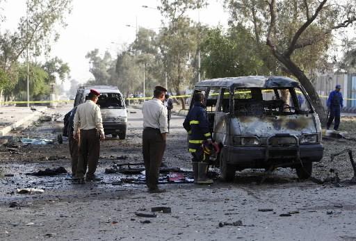 Un double attentat a secoué Bagdad.... (Photo: Reuters)