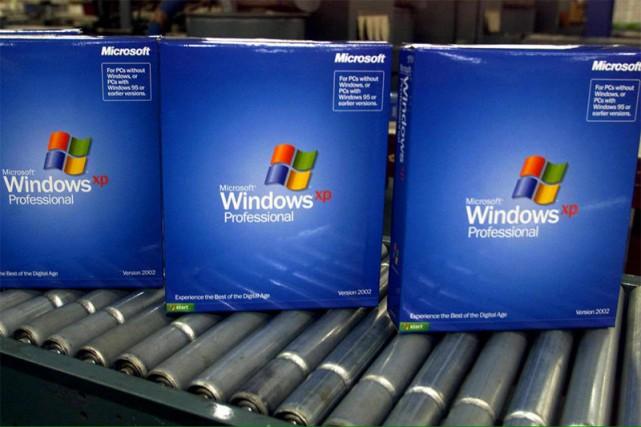 Le logiciel Windows XP dans un magasin... (AFP)