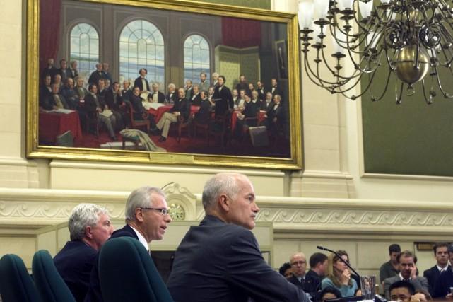 Selon les trois chefs bloquiste (Gilles Duceppe), libéral... (Photo La Presse Canadienne)