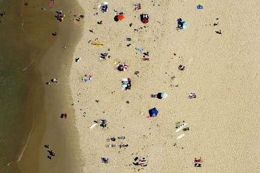 Une plage vue du ciel.... (Photo: Reuters)