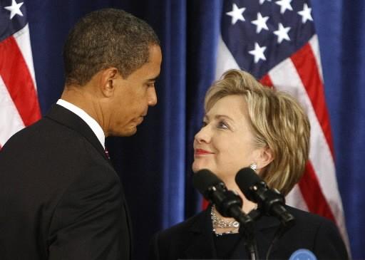 Barack Obama et Hillary Clinton... (Photo: Reuters)