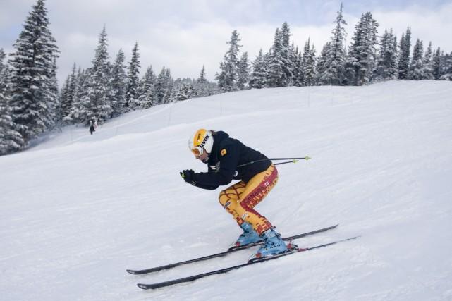 Britt Janyk a chaussé les skis malgré l'annulation... (Photo: PC)
