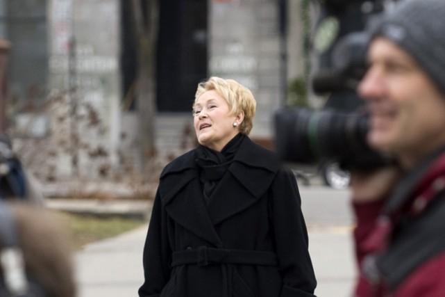 La chef du Parti québécois Pauline Marois estime que Stephen Harper, dans son... (Photo La Presse Canadienne)