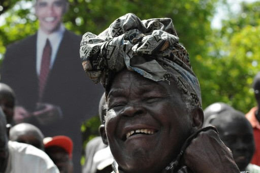 La troisième femme de Hussein Onyango Obama, Sarah.... (Photo: AFP)
