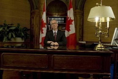 Le chef libéral, Stéphane Dion, a répondu au discours du premier ministre... (Photo: PC)