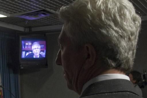 Le chef du Bloc québécois a regardé attentivement... (Photo: PC)