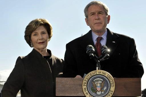 Laura et George W. Bush... (Photo: Reuters)